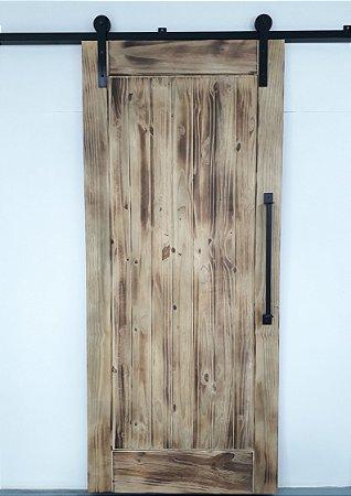 Porta De Madeira De Correr De 1 Painel Celeiro Goede Fire 100X220 CM