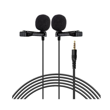 Microfone de Lapela Duplo LAV-DUO Prostream
