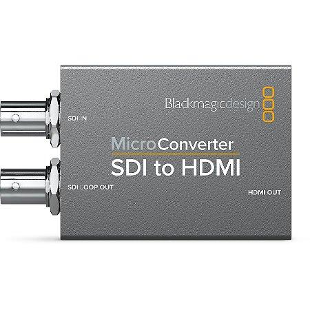 Micro Conversor Blackmagic Design SDI para HDMI com fonte