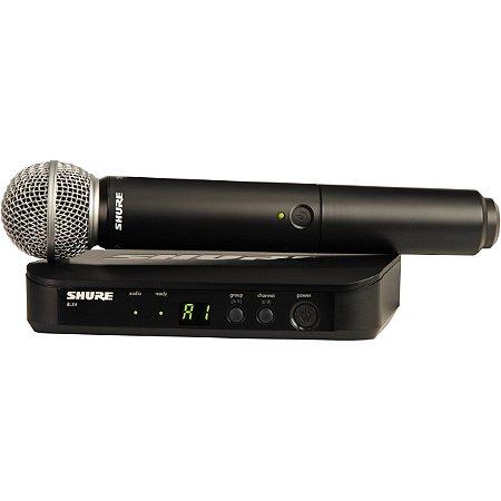 Microfone de mão sem fio Shure BLX24BR/SM58