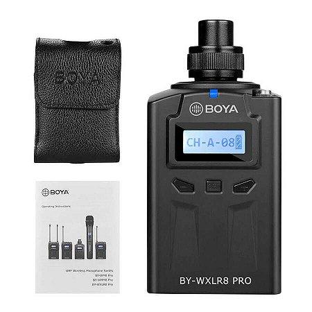 Transmissor UHF Sem Fio XLR Boya BY-WXLR8 Pro