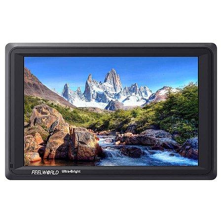 """Monitor 4K Para Câmeras FeelWorld 7"""" com Loop-Through HDMI e 3G-SDI"""