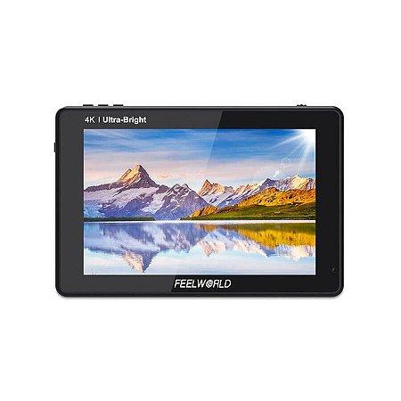 "Monitor 4K Para Câmeras FeelWorld 7"" 3D LUT HDMI e SDI"