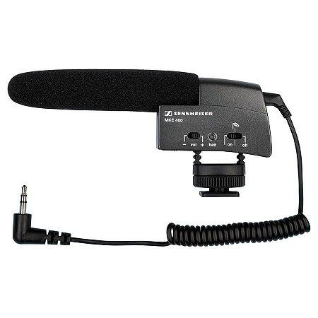 Microfone Shotgun Para Câmeras Sennheiser MKE 400