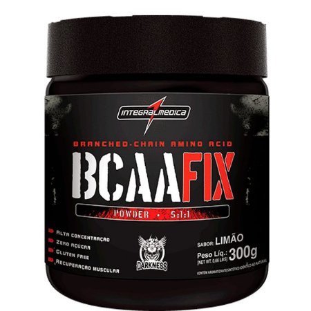 BCAA FIX DARKNESS- ( 300G) INTEGRALMEDICA- SABOR LIMÃO