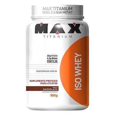 WHEY PROTEIN ISOLADO ISO WHEY 900G - MAX TITANIUM