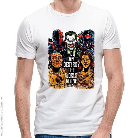 Camiseta Liga da Injustiça - Masculina