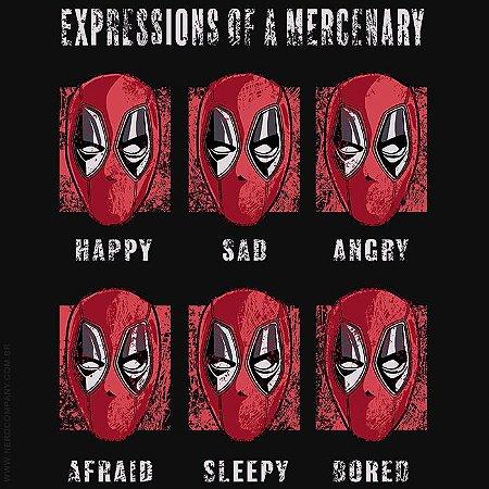 Camiseta Dead Pool Expressions - Masculina