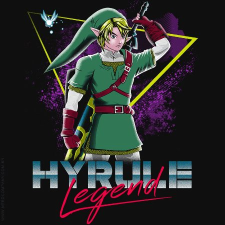 Camiseta Hyrule Legend - Masculina