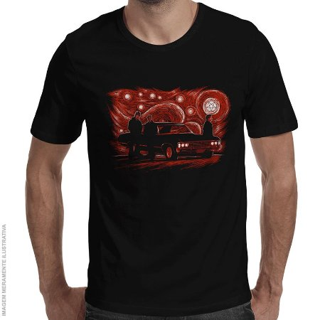 Camiseta Supernatural Night - Masculina