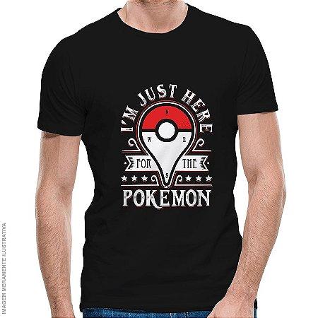Camiseta Pokémon Catching Monsters - Masculina