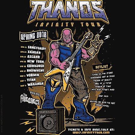 Camiseta Thanos Infinity Tour - Masculina