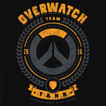 Camiseta Overwatch Team Tank - Masculina