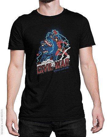 Camiseta Civil War - Masculina