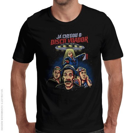 Camiseta Chaves Disco Voador - Masculina