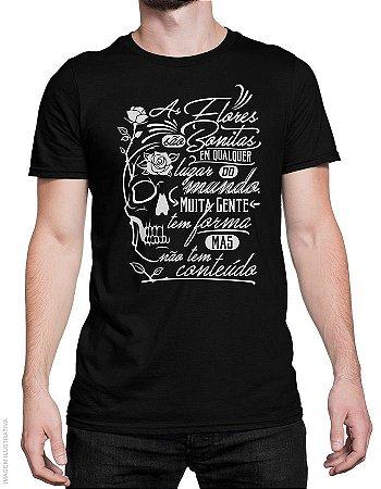 Camiseta Flores Bonitas