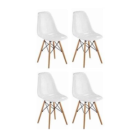 Cadeira Eames Sem Braço Branca (4 Unidades)