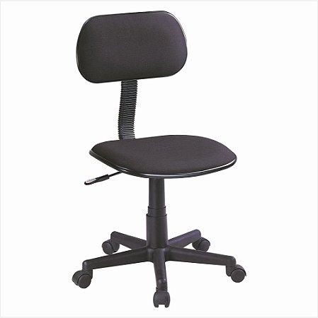 Cadeira Secretária Sem Braço - Preta - Bulk