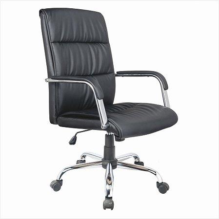 Cadeira para Escritório Presidente Plus Giratória - Preto - Bulk
