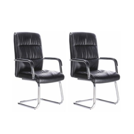 Cadeira Visitante Plus Preto (2 unidades)