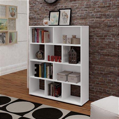 Estante para Livros com 10 Nichos Artely Branco