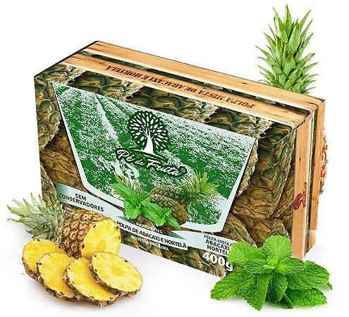 PÉ DE FRUTA - Polpa de abacaxi e hortelã (400g)