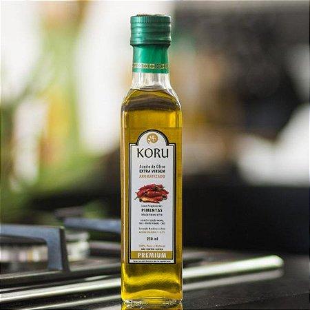 KORU BRASIL - Azeite Extra Virgem Premium Aromatizado com Pimentas (250 ml)