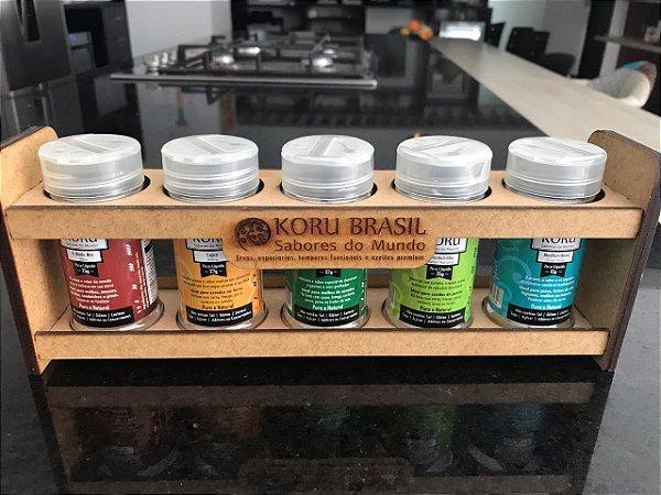KORU BRASIL - Kit Sabores do Mundo (5 sabores do Ocidente com embalagem)