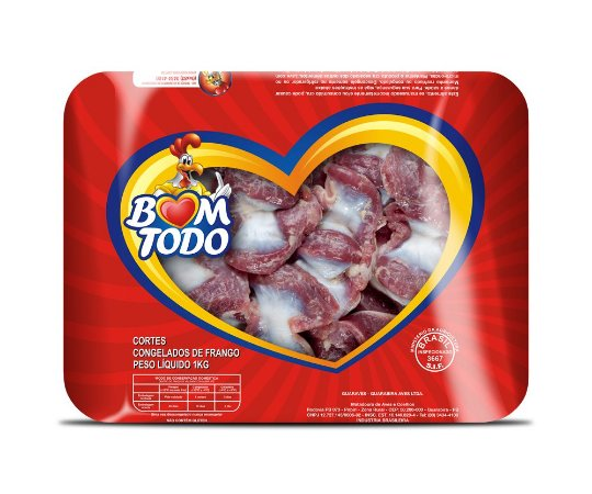 [FRANGO BOM TODO] Moela congelada (bandeja 1kg)