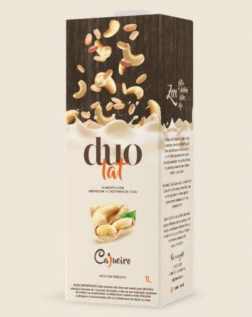 Leite CAJUEIRO Duolat Castanhas de Caju + Amendoins (1 litro de bebida cremosa 100% natural)