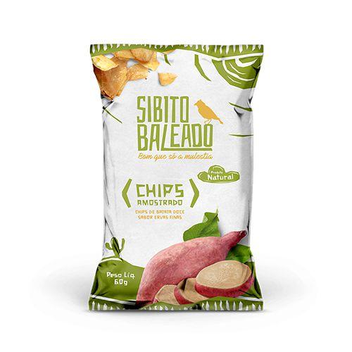 [SIBITO BALEADO] CHIPS AMOSTRADO (batata doce) sabor ervas finas (60g)