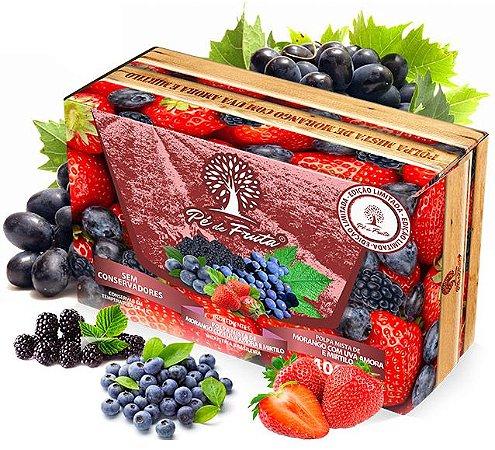 PÉ DE FRUTA - Polpa de frutas vermelhas com uvas (400g)