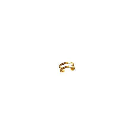 Piercing Pressão Dois Fios Prata 925 com Banho de Ouro