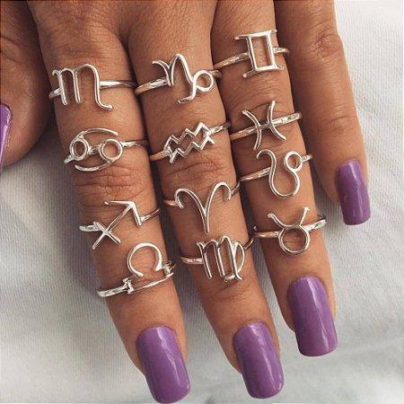 Anéis de Signos Prata 925