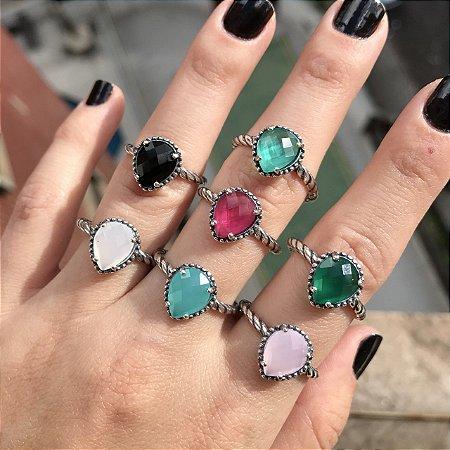 Anéis Inspired Gota Prata 925