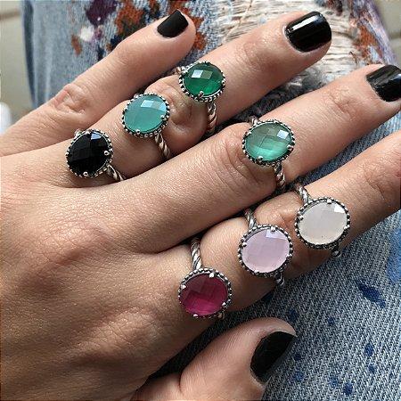 Anéis Inspired Oval Prata 925