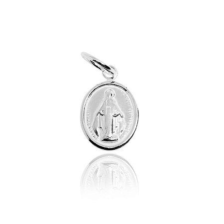 Pingente Medalhinha Nossa Senhora Das Graças Prata 925