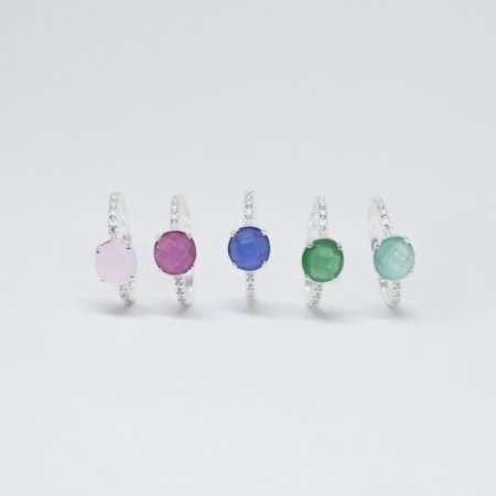 Anéis Inspired Microzircônias Prata 925