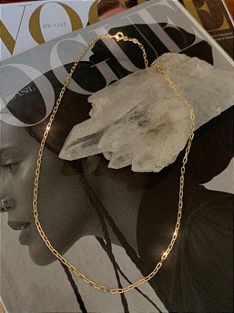Corrente Cartier 45cm Prata 925 com Banho de Ouro