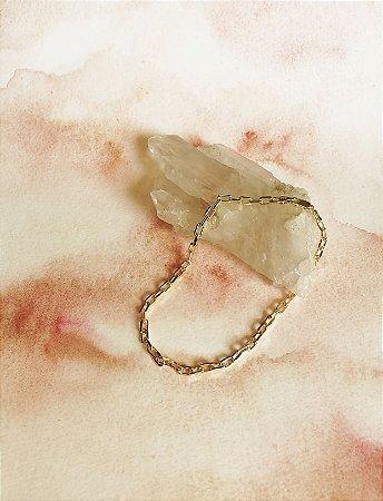 Pulseira Estilo Cartier Prata 925 com Banho de Ouro