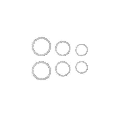 Trio de Círculos Vazado Prata 925