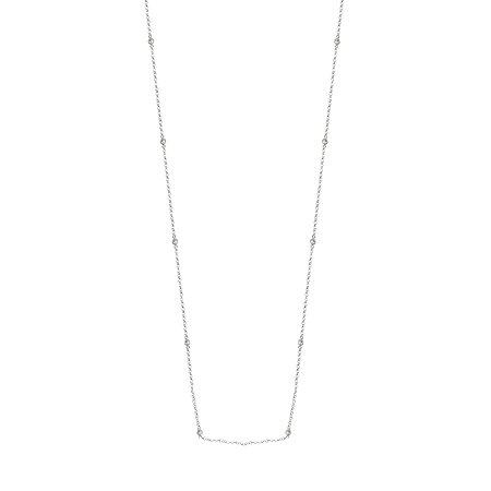Colar 70cm Zircônias Prata 925
