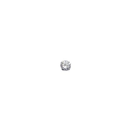 Brinco Unitário Ponto de Luz Para Piercing Prata 925