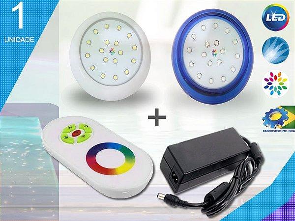 Kit Iluminação Piscina Enertech LED RGB 1x18 Watts - 8 cm