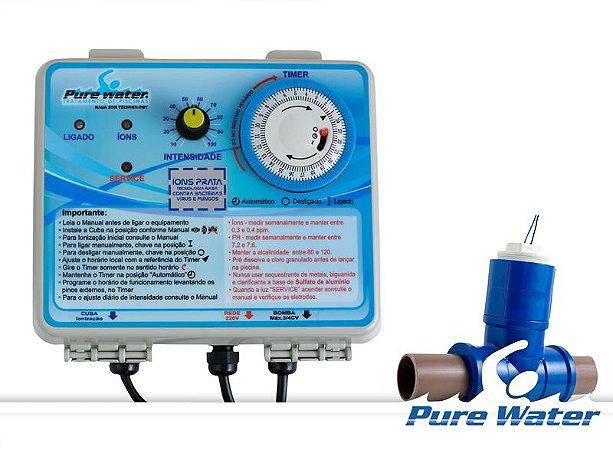 Ionizador de Piscina até 15 Mil Litros - Cobre e Prata 220v