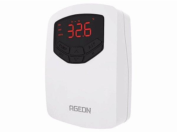 Controlador de Temperatura Digital P/ Aquecimento Solar Piscina ou Boiler - Automasol TDI