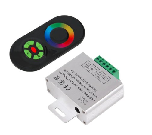Controlador Remoto RGB Black Series 18A até 420 Watts