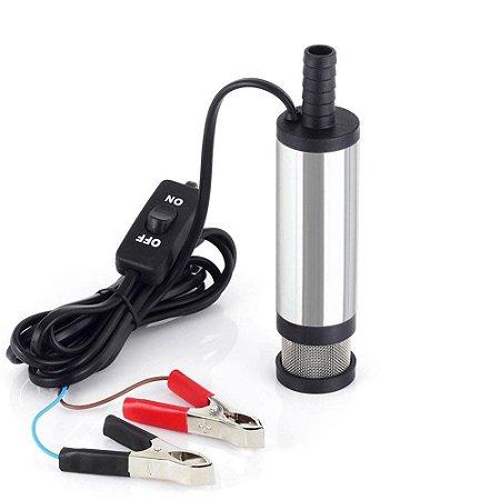 Bomba Submersível Elétrica 12v  Diesel / Água / Querosene - 12L/Min