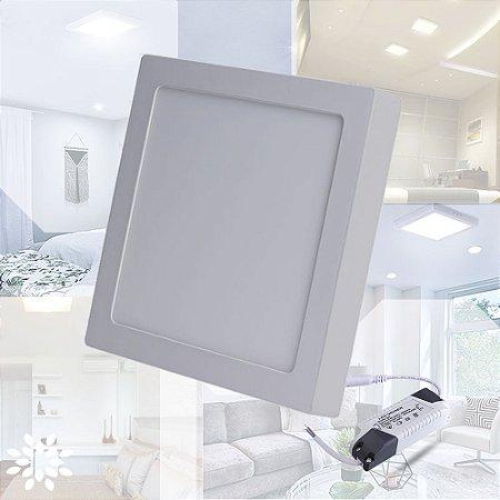 Plafon Quadrado Sobrepor LED 25 Watts - Bivolt