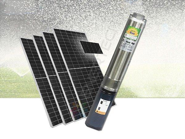 Kit Completo Bomba Solar Submersa Caneta 4 Pol. 1.000 Watts C/ Placas Solares  - Até 90 Metros